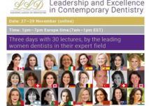 Conferenza plenaria del Women Dentist Worldwide (26-29 Novembre 2020)