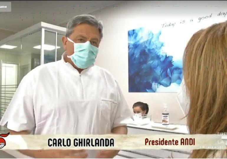 Di Martedì su La7 parla della sicurezza degli studi dentistici