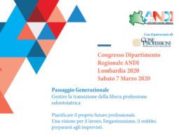 Congresso Dipartimento Regionale ANDI Lombardia 2020 – Sabato 7 Marzo 2020