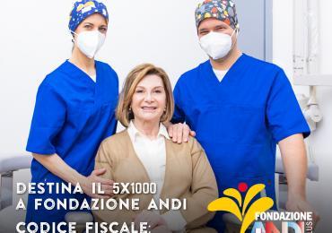 Con il tuo 5x1000 a Fondazione ANDI onlus porterai il tuo aiuto a tutti, anche a te stesso