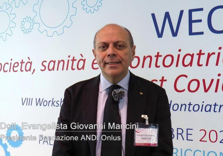 Evangelista Giovanni Mancini, Presidente Fondazione ANDI Onlus: abbiamo affrontato temi importanti che richiedono continuo aggiornamento